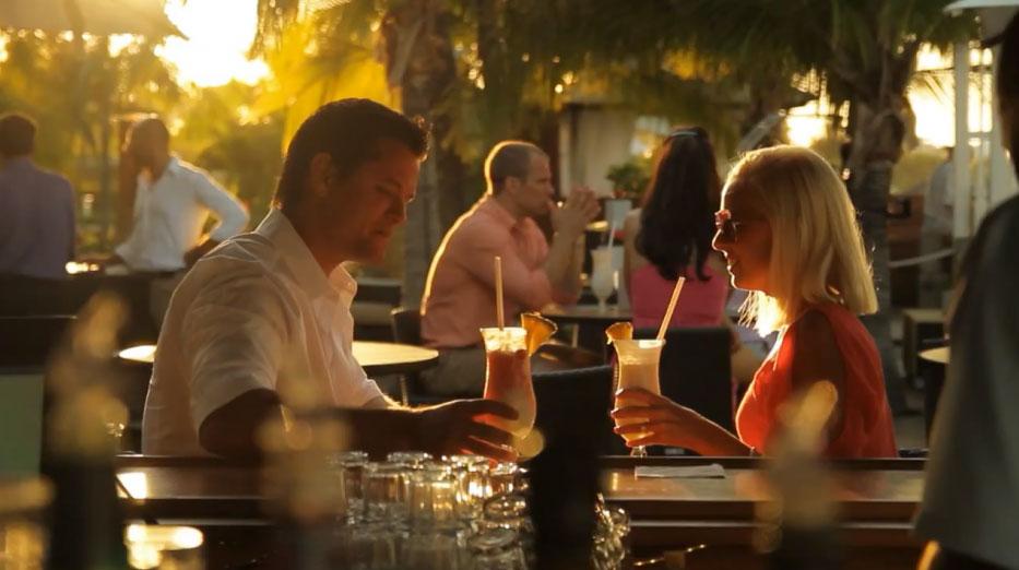 Couple enjoying drinks at Seven Stars Resort
